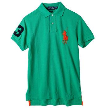 Ralph Lauren男士短袖3號POLO衫修身款 亮綠(S-XL)