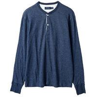Ralph Lauren 亨利領長袖上衣經典款 藍(S-XL)