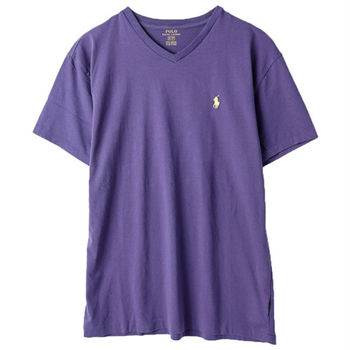 Ralph Lauren 男士短袖V領T恤經典款 紫(S-XL)