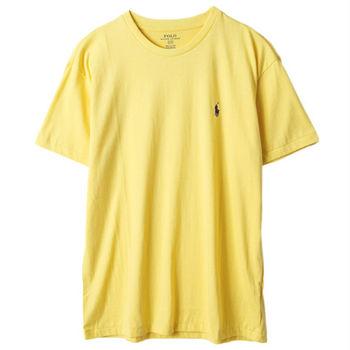 Ralph Lauren男士短袖圓領T恤經典款 黃(S-XL)