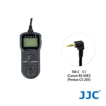JJC TM-C 液晶定時快門線 C1(相容 Canon RS-60E3/Pentax CS-205)