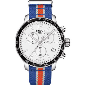 TISSOT天梭 X NBA :紐約尼克隊特別版腕錶-42mm T0954171703706
