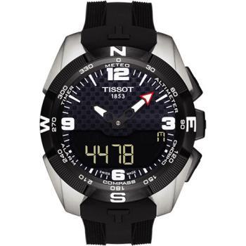 TISSOT T-TOUCH 鈦金屬太陽能觸控腕錶 NBA 特別版腕錶-黑/45mm T0914204720701