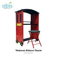 【obis】Kids Neverland 兒童書桌椅組-湯瑪士小火車