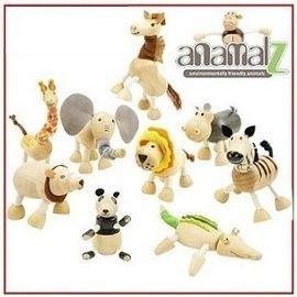 【海夫健康生活館】亞馬遜動物玩偶 澳洲Anamalz 有機楓木玩偶 益智玩具 24種