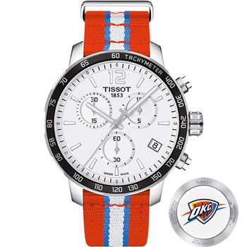 TISSOT 天梭 X NBA 雷霆隊計時特別版腕錶-42mm T0954171703714