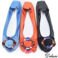 【Deluxe】真皮閃耀水晶楔型底娃娃包鞋(黑.橘.藍)-283-11