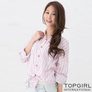 TOP GIRL 舒適寬版造型襯衫-二款四色