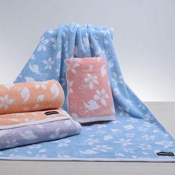 【MORINO】MIT美國棉油桐花浴巾(2入組)