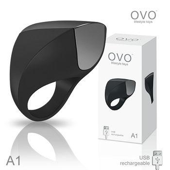 德國OVO A1 時尚男性 矽膠靜音時尚震動環 充電式 黑