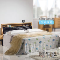 【優利亞-優植原木色】雙人5尺床頭箱+床底