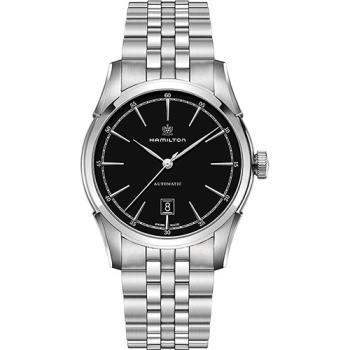 Hamilton CLASSIC 紳士大三針機械腕錶-黑x銀/24mm H42415031