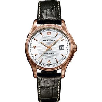 Hamilton Viewmatic 紳士大三針機械腕錶-玫瑰金框x咖啡/40mm H32645555