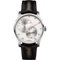 Hamilton JAZZMASTER 分秒必爭時尚機械腕錶-銀x咖啡/42mm H42615553