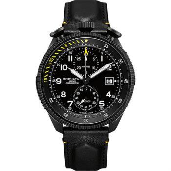 Hamilton KHAKI AVIATION 限量飛行員機械腕錶-黑/46mm H76786733