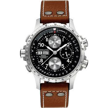 Hamilton ID4:星際重生 御風者系列機械腕錶-黑x卡其/44mm H77616533