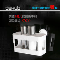 DeHUB 超級吸盤 置物架 白