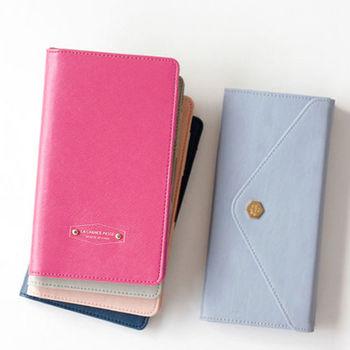 DF Queenin - 韓版高質感多卡式護照夾-共4色