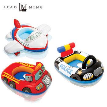 【INTEX】嬰幼兒交通造型充氣泳圈