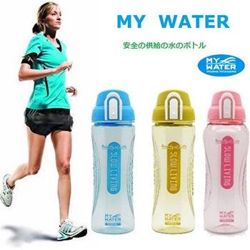 【my water】運動水壺組慢活彈蓋水壺1000mlx3(3入組隨機出貨)