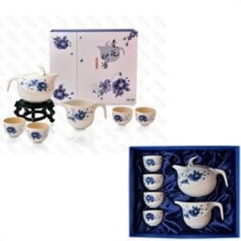 【南良HH】藝術陶瓷 能量瓷 青花映雀茶具組