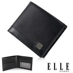 【ELLE HOMME】法式精品短夾 單層 鈔票多層/證件/名片格層設計 EL81782