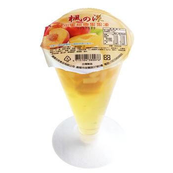 楓漾 高腳杯水蜜桃椰果果凍(225gX12杯/箱)
