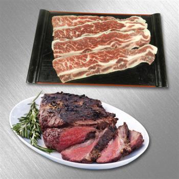 好神 紐西蘭濕式熟成嫩肩牛排+紐西蘭ps帶骨牛小排30包組