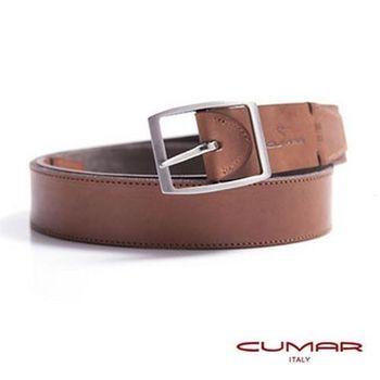 CUMAR 義大利原裝進口-外牛皮內丹寧造型皮帶 0596-D47-02
