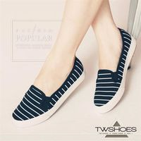 【TOMO】LOHAS無印風條紋平底懶人鞋【K120A3418】