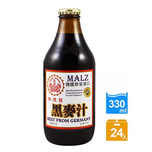 崇德發 黑麥汁(玻璃-330mlx24瓶)