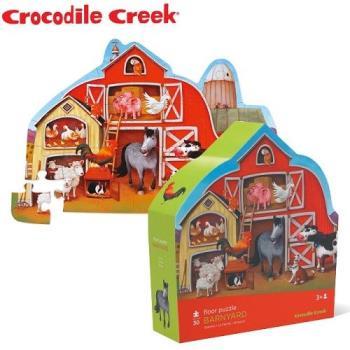 【美國Crocodile Creek】大型地板拼圖-動物農莊