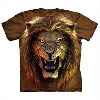 【摩達客】(預購)美國進口The Mountain 獅猛獸 純棉環保短袖T恤