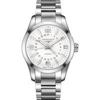 LONGINES 征服者經典系列兩地時間腕錶-銀/42mm L27994766