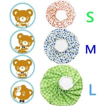 【*可立敷組合】冷熱兩用敷袋S+M+L x3入/熱水袋/冰袋/冰水袋(小熊+幸運草+綠格)