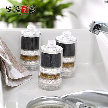 生活采家家庭型淋浴用除氯過濾器(3入)
