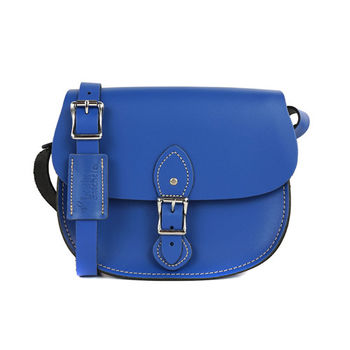【The Leather Satchel Co.】英國原裝手工牛皮馬鞍包 肩背 側背手拿包 (牛津藍)