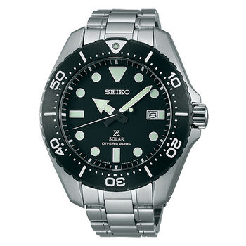 SEIKO 精工 PROSPEX 太陽能黑水鬼空氣潛水腕錶/44mm/V157-0BN0D(SBDJ013J)
