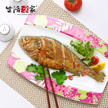 【生活采家】東洋之心骨瓷系列12吋用餐魚盤#28024