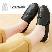 【TOMO】金蔥亮片平底懶人鞋【K160A2233】