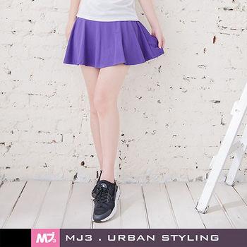 【MJ3】優雅美型小圓裙褲裙-女(深情紫)