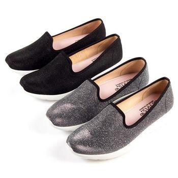 G.Ms. MIT極輕量系列-銀線針織網布記憶鞋墊樂福鞋-2色