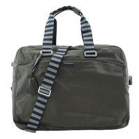 agnes b.霧面鐵牌雙色提把旅行袋(大/軍綠)