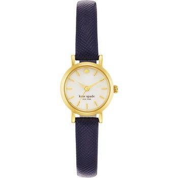 Kate Spade Merto Tiny 迷你腕錶-珍珠貝x海軍藍/20mm 1YRU0456