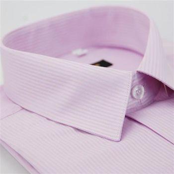 【金安德森】粉色暗紋類絲質窄版長袖襯衫