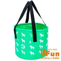 【iSFun】露營戲水*動物大容量摺疊水桶袋/二色可選12L