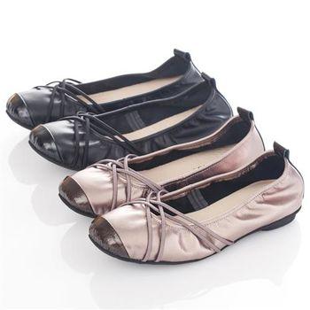 G.Ms. MIT系列-牛皮交織皮帶芭蕾舞娃娃鞋-2色
