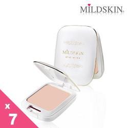 【MILDSKIN】白金光感柔白兩用粉餅7件組