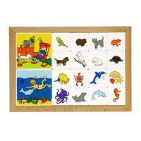 【華森葳兒童教玩具】益智邏輯系列-卡片分類遊戲動物系列-野生與農場動物 K5-522110