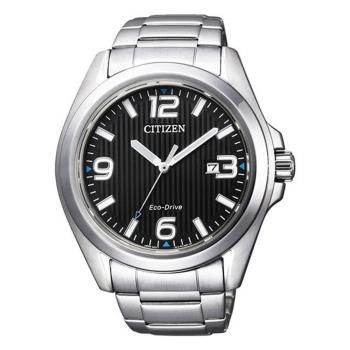 【CITIZEN星辰】Eco-Drive 光動能知性時尚男腕錶-黑x銀(AW1430-51E)